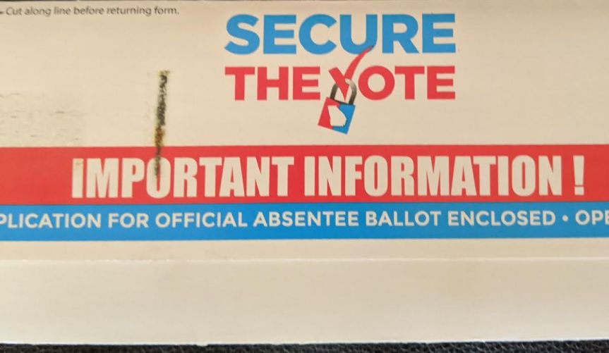 Cobb County Seniors Receive Two Absentee Ballot Applications